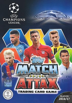 Topps MATCH ATTAX Champions League 2017 FULL Set of 435 Football Cards in binder