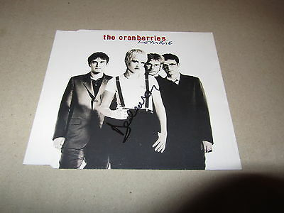 Cranberries   -   Dolores  -  Zombie    Signed Cd     -   Authentic Uacc