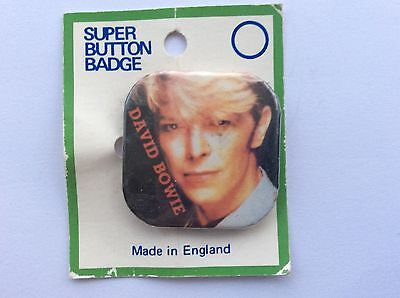 Square Button Pop Badge From the 80s DAVID BOWIE by Banbury badges made in UK