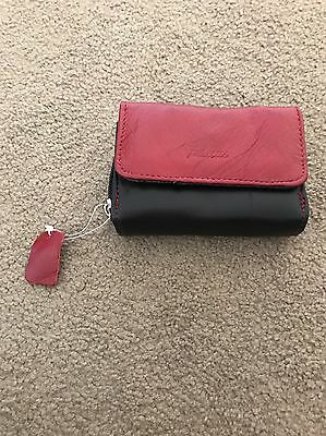 Unwanted Gift Burgundy & Black Leather Purse
