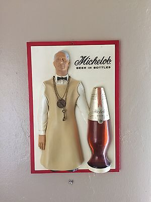 Rare 1960's Anheuser Busch Michelob Beer Bartender Coin And Key Sign- Only One!!