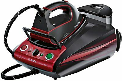 Bosch TDS3771GB 3100W Sensixx Advanced Steam Pro Steam Generator Iron Black/ Red