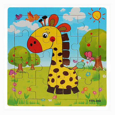 Wooden Puzzle Educational Developmental Baby Training Toy Christmas Gift
