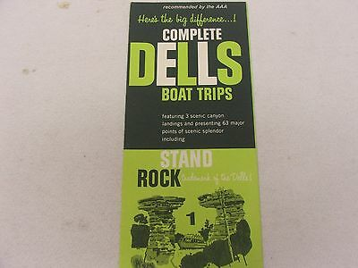 Complete Dells Boat Trips Brochure Probably 1960's