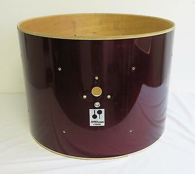 "Sonor Force 2001 22"" x 16"" Deep Bass Drum Shell with Wine Red Finish"