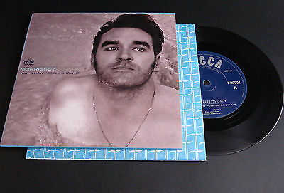 """*morrissey """"that's How People Grow Up"""" Rare!!! Eu 7"""""""