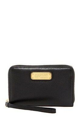 MARC JACOBS WINGMAN Q wallet Brand New Black Leather
