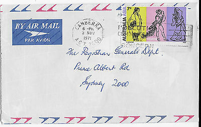1971 7c Australia Asia solo commercial cover art Canberra