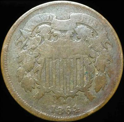 *HHC* Two Cent Piece 2c, 1864 (Inv #12.14)