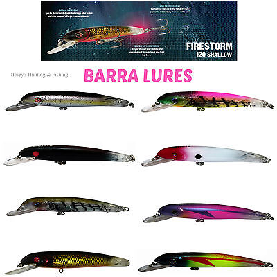 Balista Led Technology Flashing Firestorm 120 shallow Barra Fishing Lures