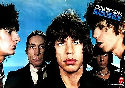 """ROLLING STONES 1976 """"Black and Blue"""" Promo Poster -Never Used & Stunning!"""