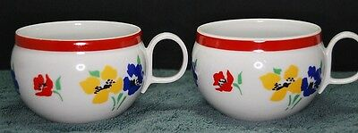 2 Block Hearthstone ANEMONE Cups in excellent condition