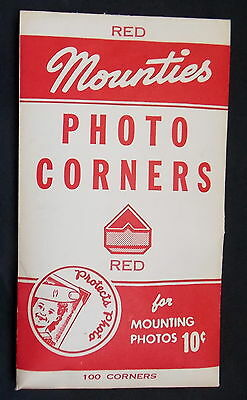 1 Pkg Mounties Red Photo Corners Vintage 100 To Pkg Though Opened