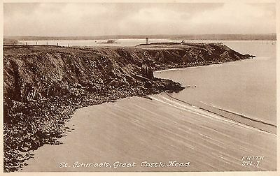 ST. ISHMAELS GREAT CASTLE HEAD PEMBROKESHIRE WALES POSTCARD by FRITH & Co.