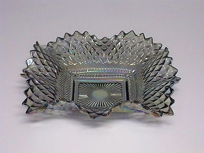 Vintage Indiana Carnival Glass Diamond Point Candy Dish