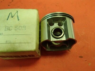 vintage race go kart mcculloch mc91 92 93 std burco piston and rings drilled NOS
