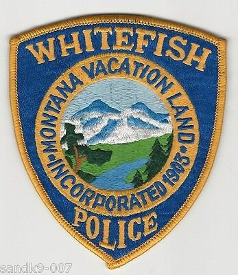 Whitefish Police State of MONTANA MT Shoulder Patch