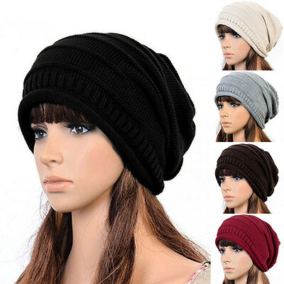 New Unisex Women Men Winter  Knitted baggy Crochet Warm Ski Beanie Hat Cap Beret