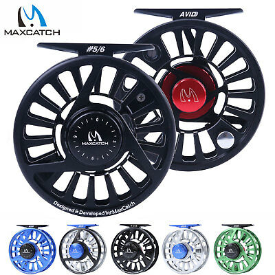 Maxcatch 3/4/5/6/7/8WT Fly Fishing Reel CNC Machined Aluminum Micro Adjusting