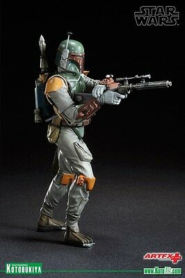 "Star Wars Boba Fett Return Of The Jedi Artfx 7"" Kotobukiya 2011 Statue Very Rare"