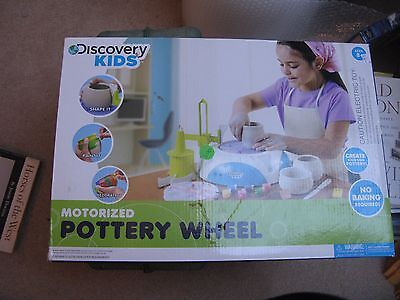 Discovery KIDS Motorized POTTERY WHEEL + Foot Pedal and Accessories Used Working