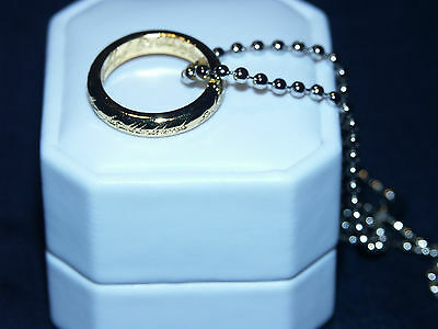 Collector New Lord Of The Rings Lotr The One Ring Chain Hobbit Christmas Gift