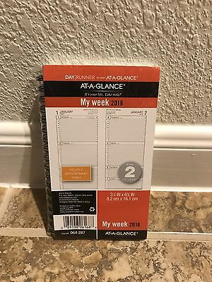 At-A-Glance Planner Refill 2017 Size 3 Jan Dec Weekly Traditional White Hourly