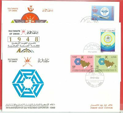 Oman Investment WHO Aviation 3 diff FDC Cover