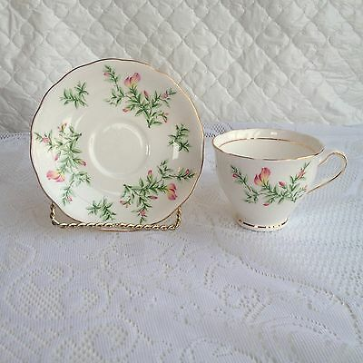 Colclough Sweet Pea Tea Cup & Saucer - Gold Rimmed (56a)