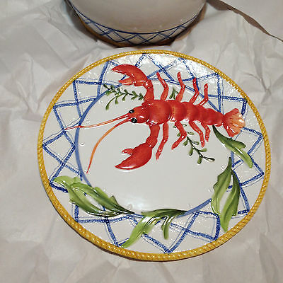 Fritz And Floyd Large Platter Serving Tray Lobster Clam Bake Beautiful And Mint!