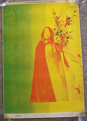 1968 Bill Graham-Paul Butterfied Blues Band Orig Concert Poster at Fillmore West