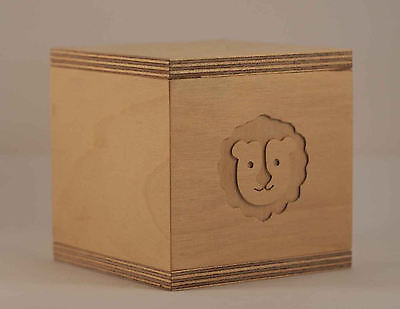 Wood money box with cute Animal engraving - Timber Baby Kids Birch Ply
