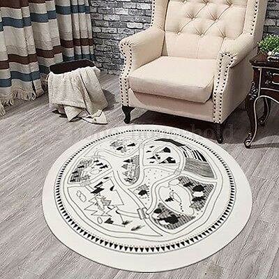 Soft Cotton Round Chilren Baby Kid Play Fun Rug Game Mats Crawling Blanket Floor