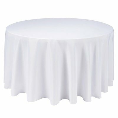 Tablecloth Round Table Cloth Wedding Party Banquet Event 230cm 5Pcs