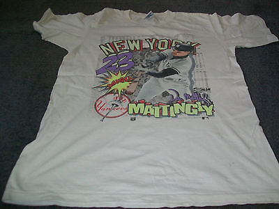 Don Mattingly-New York Yankees-Large Size Shirt from the 1980's