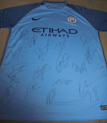 Manchester City Signed Football Shirt With Coa Inc