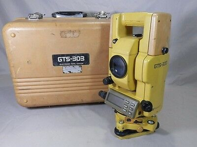 Topcon GTS-303 300 Total Station Digital Theodolite Series Transit Level EE0872