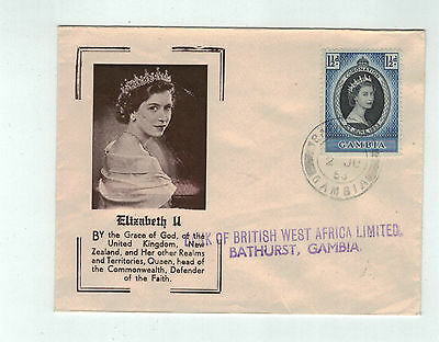 1953 CORONATION OF QUEEN ELIZABETH II Gambia 1 1/2