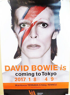DAVID BOWIE is 2017 JAPAN Exhibition ONLY Official Poster 728mm*515mm NEW