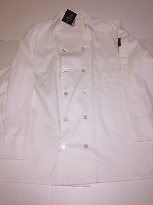 Chef 24/7 Revival Jacket Large Poly Cotton Blend NWT White Buttoned Look 2XL XXL
