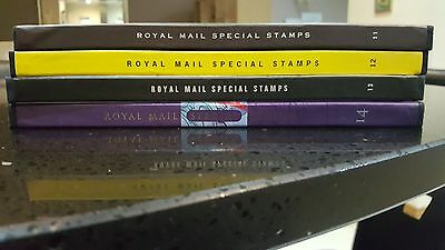 royal mail special stamp year book 11, 12, 13 and 14