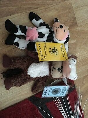 Creamy The Cow And Buck The Donkey Royal Show Beanie Kid Bear Rare 2005 Retired