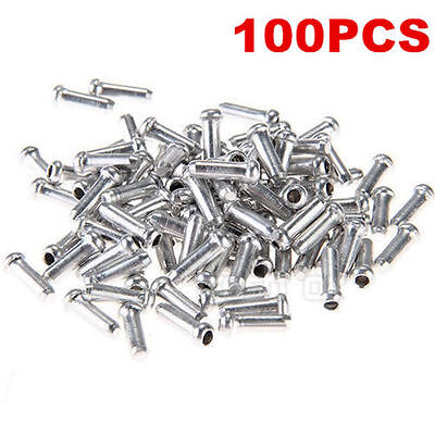 100x Shifter Brake Gear Inter Cable Tips End Caps Crimp Ferrule for Bike Bicycle