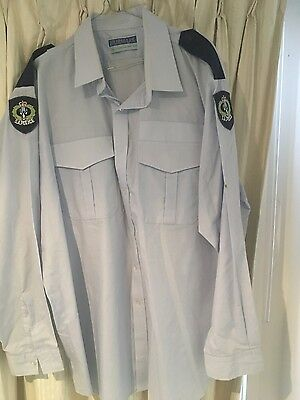 Police Dress shirt SAPOL 1980 's old patches