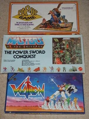 Vintage voltron & heman master of the universe board game