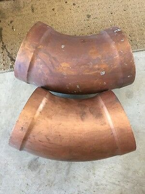 2x 150mm Copper 45 degree Bends