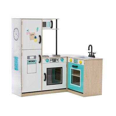 Modular Interchangeable Kids Large Role Play Wooden Wood Complete Kitchen Set