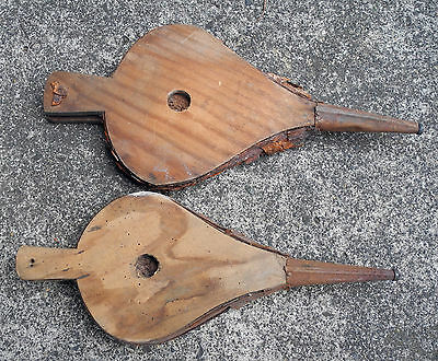 X2 Vintage Fire Bellows Wooden Collectable Old Antique