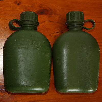 A pair of Army Water Bottles
