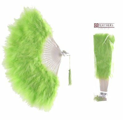 Zucker Feather Products Large Marabou Feather Fan, Lime